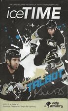 Max Talbot Signed 3/31/2010 Pittsburgh Penguins Icetime Program