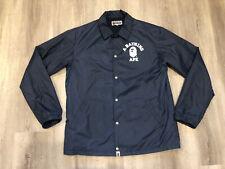 BAPE A BATHING APE Dark Blue Coach Jacket, Windbreaker. Size XL
