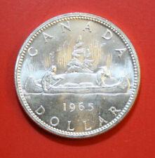 Kanada 1 Dollar 1965 Silber Coin #F2894  KM# 64 ST-BU  Kanu-Indianer