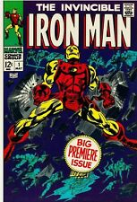 Iron Man #1 Facsimile Reprint Cover Only Ads Key 1st Solo Iron Man Avengers