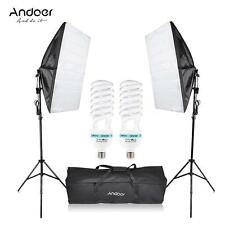 Photography Photo Studio 2 Softbox Video Light Stand Continuous Lighting Kit Set