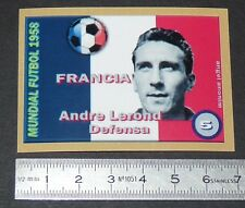 FRANCE ANDRE LEROND OLYMPIQUE LYON OL COUPE MONDE FOOTBALL 1958 STYLE PANINI
