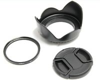 72mm Lens Hood Cap UV Filter for Canon EOS 50D 7D 18-200mm EF-S 15-85mm f3.5-5.6
