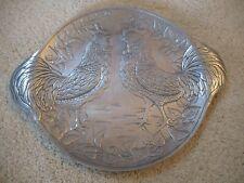 Eda For Mann Alco MCML Arthur Court Aluminum Rooster Platter