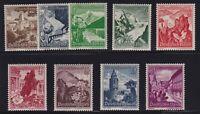 Germany Sc #B123-131 (1938) Austrian Scenes Semi-Postal Set Mint VF NH