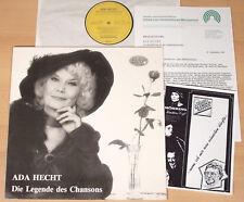 ADA HECHT - Die Legende des Chansons  (ESPERANZA 1987 + INFO / LP NEUWERTIG)