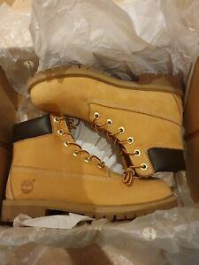 Timberland 6 Inch Classic 12909 Yellow Premium Nubuck Waterproof Boots
