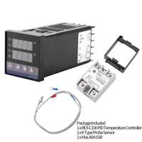 REX-C100 Digital PID Temperature Controller Regulator K Thermocouple 40A SSR st4