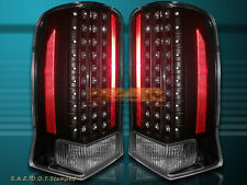 02-06 CADILLAC ESCALADE LED TAIL LIGHTS BLACK 03 04 05