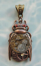 BEETLE INSECT BEE BUG STEAM PUNK WATCH CLOCK PENDANT NECKLACE VICTORIAN COSTUME