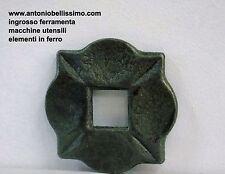 base in ferro battuto per ringhiere inferriate foro 30x30 art.116/A/7
