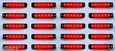 20 Stk x 24V 6 LED Seite Marker rot Blinker Lichter LKW Anhänger Bus
