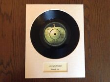 Valentines Day Romantic Gift - PERSONALISED MOUNTED RECORD - UNIQUE, ORIGINAL !!