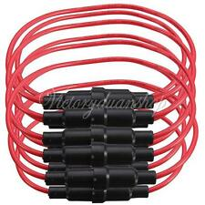 NEW 10pcs 5x20mm AGC Fuse Holder Case In-line Screw Type With 22AWG Wire Cable