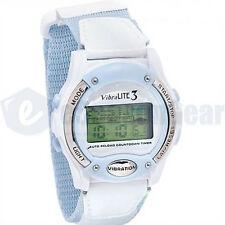 VibraLITE 3 Vibrating Alarm Reminder Watch VL300V White/Blue Water Resistant #05