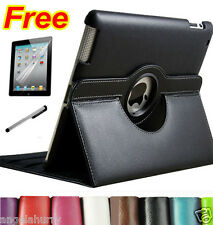 The New iPad 4 4G 4th iPad3 iPad2 Smart Leather Cover Case Stand 360° Rotate