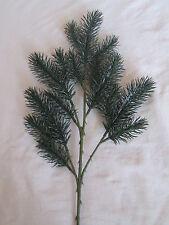 1 Spritzguss Tannenzweig incl. Stiel 42cm Künstliche Kunst Pflanzen Kunstblumen