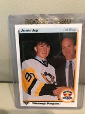 1990-91 UPPER DECK JAROMIR JAGR ROOKIE HOCKEY CARD #356.