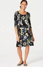 J. Jill -4X(Plus)  - Beautiful Wearever Allium Moonlit Garden Dress - NWT