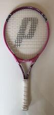 Prince Maria 23 Women's Pink Tennis Racket Triple threat Midplus Pre Owned