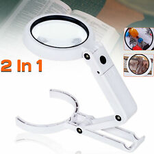 5X / 11X Magnifying Glass With Light 8 LED Lamp Magnifier Foldable Stand