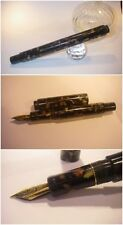 Celluloid or Ebonite fountain Pen HandMade Stylo Fluted BlancheurPens Mosaic