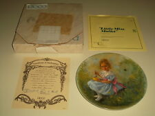 Little Miss Muffet 1981 Collectors Plate John McClelland Collection COA with Box