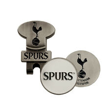 SPURS GOLF CAP/VISOR CLIP AND DOUBLE SIDED BALL MARKR