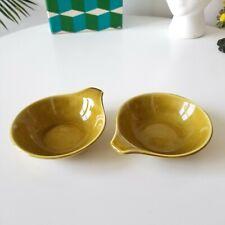 Vintage RUSSEL WRIGHT American Modern Lugged Soup Bowls CHARTREUSE 2pcs