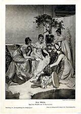 Der Künstler F. Soularroix Neue Moden Damengesellschaft Histor. Kunstdruck 1908