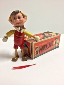 Vintage 1930's Walt Disney Pinocchio Wood/ Composite Doll by Ideal Novelty & Toy