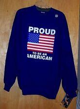 Proud to be an American Patriotic Sweatshirt Adult XL NWT