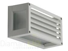 Antea luce linear grey applique cubo vetro led w k