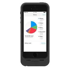 NUOVO Mophie iPhone 5 5s SPAZIO Pack Batteria Custodia con costruito in deposito 16gb Nero