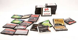Large Lot of CF Cards, 8GB, 4GB, 2GBN, 1GB, and 96MB, Multiple Brands