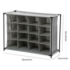Non-Woven Standing Storage Rack Shelf Bookcase Bookshelf Book Holder Organizer