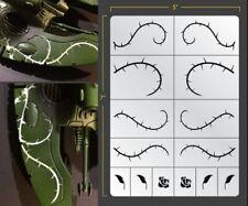 Rose Vines Airbrush Stencil Texture Patern Schablonen Maskierung Gestaltung
