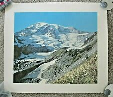 "Mt. Rainier Print 14"" x 16"" showing Nisqually Glacier"