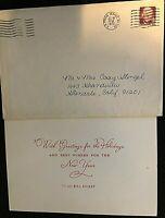 YANKEES BILL DICKEY RARE ORIG 1972 HOLIDAY CARD TO CASEY STENGEL W/ORIG ENVELOPE