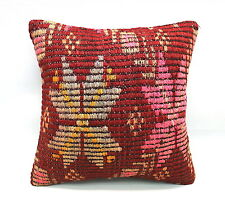 Kilim Square Pillow, 16x16 in, Accent Pillow, Throw Pillow, Decorative Pillow