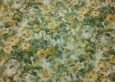 """COVINGTON GROSVENOR TAPESTRY FLORAL GREEN YELLOW FABRIC BY THE YARD 54""""W"""