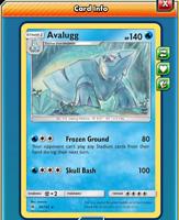 Pokemon TCG ONLINE x4 Avalugg 30/131 (DIGITAL CARD) Forbidden Light Rare