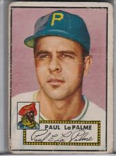 1952 TOPPS #166 PAUL LAPALME ROOKIE RC PITTSBURGH PIRATES A137