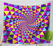Trippy - Psychedelic - Geometrical - Colorful - Tapestry - Large 150 x 130 cm
