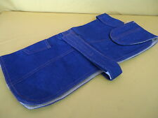 DENIM DOG JACKET Blue Furry Warm Lined Strap Belt and Pocket NEW MEDIUM DOG SIZE