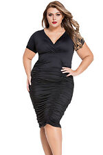 Abito Arricciato aderente Taglie forti Grandi Curvy Formosa Plus Size Dress XXL