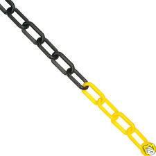 5m x 6mm Plastic Barrier Chain Safety Decorative Garden Fence - Yellow & Black