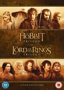 The Hobbit Trilogy & The Lord of the Rings Trilogy DVD NEW