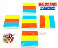 750 ROACHES ROACH TIPS FILTER MULTI COLOUR BOOKS 5 PACKS OF 3 = 15 BOOKS UK