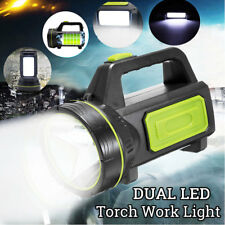 Dual LED Candle Power Work Light Torch Candle Spotlight Hand Lamp Rechargeable